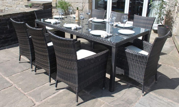 Eight-Seater Rattan Garden Furniture Dining Set for AED 14,1499 With Free  Delivery