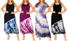 Women's Tie-Dye Maxi Dresses with Plus Size Available