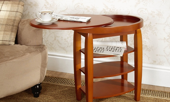 Swivel top side table groupon goods