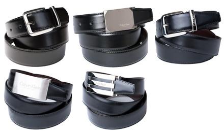 calvin klein lederg rtel groupon goods. Black Bedroom Furniture Sets. Home Design Ideas