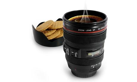 1, 2 o 4 tazas en forma de lente de cámara