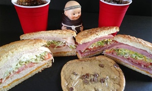 Monk's Kitchen: Sandwiches for Two or Four at Monk's Kitchen (Up to 47% Off)