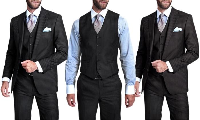 Verno Men's Suit (3-Piece) | Groupon Goods