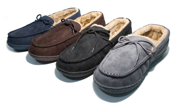 Men's Moccasin Lined Slippers From £12.98