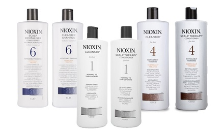$56 for a Nioxin 1l Cleanser/Shampoo and 1l Conditioner Bundle Systems 1 to 6 Don't Pay $113.21