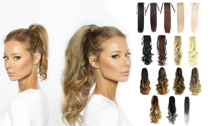 Ponytail hair extensions groupon cloud smart technology co ltd au from 12 for 20 clip pmusecretfo Choice Image