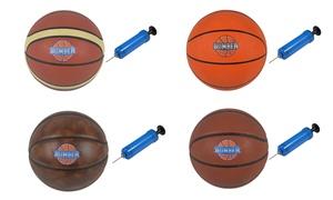 Ballon Basket et pompe manuelle