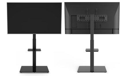 "Large TV Floor Stand Mount with 35-Degree Swivel for 37"" - 70"" TVs"