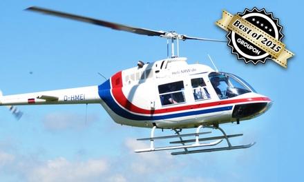 20 oder 30 Minuten Hubschrauber-Rundflug mit der Flugschule und Luftfahrtagentur
