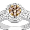 1/2 CTTW Champagne Diamond Engagement Ring in 14K Gold by DiamondMuse