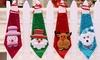 Set of Four Christmas Neckties