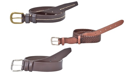Three True Face Leather Belts