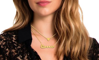 Up to 82% Off Personalized Layered Name Necklace