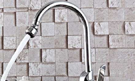 Adattatore ugello per rubinetto 360° e rubinetto con luce variabile a secondo della temperatura dell'acqua