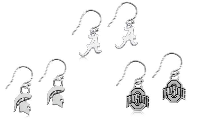 NCAA Dangle Earrings in Sterling Silver
