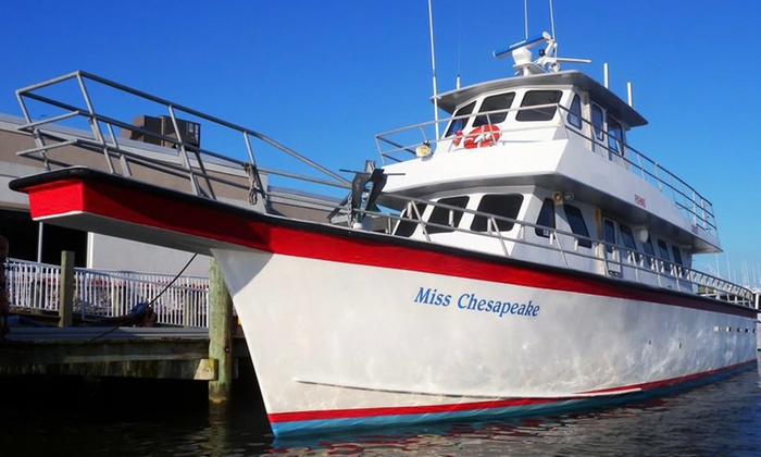 Miss Chesapeake - Breezy Point Marina: Four- or Six-Hour Fishing Trip Aboard the Miss Chesapeake (Up to 55% Off)