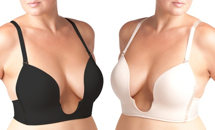 The Natural Plunge Low-Cut Bra. Extended Band and Cup Sizes Available.