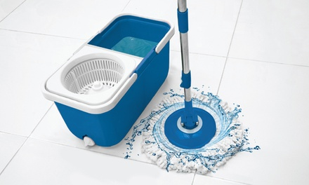 Instamop Dual-Bucket Spin Mop with Replacement Head (Shipping Included)