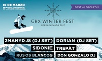 1 entrada a GRX Winter Festival el de 10 marzo por 10,25 € en Palacio de Deportes Granada