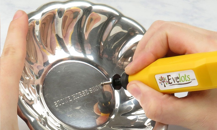 Evelots Battery-Operated Precision Engraver with Extra Tip Bit