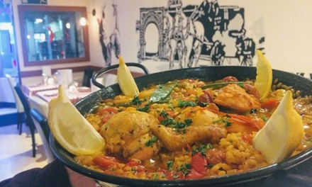Paella with Sides and Drinks for Two or Four at La Casa Flamenca