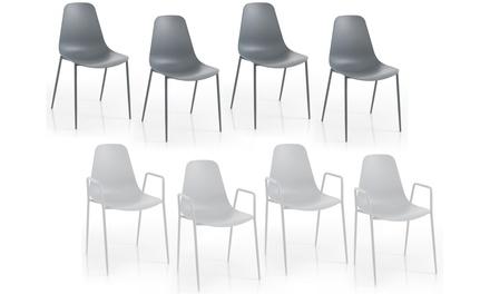 Set 4 sedie da interno o esterno