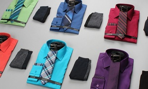 Jack Luxton Men's Slim-Fit Dress Shirt Set (6-Piece)