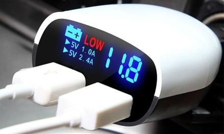 iMounTEK LED Display DualUSB Car Charger