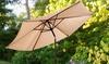 9' Patio and Market Umbrella with Tilt and Crank