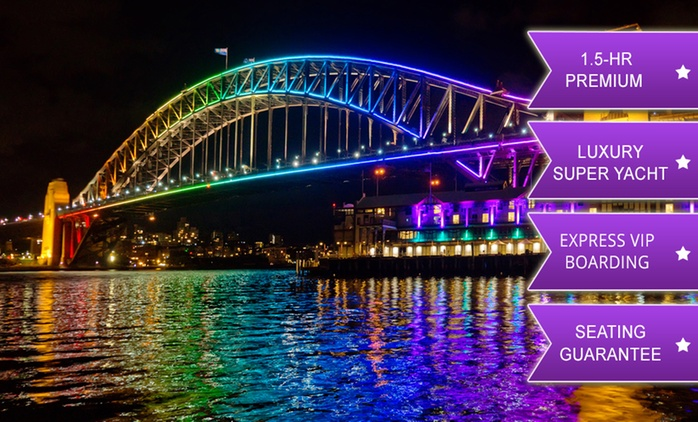 Constellation Cruises: $20 for Superyacht Vivid Cruise with Seating Guarantee & Drink, 8.30 pm - 10 pm (Up to $25 Value)