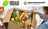 HelloFresh Meal Plans + BONUS Groupon Credit