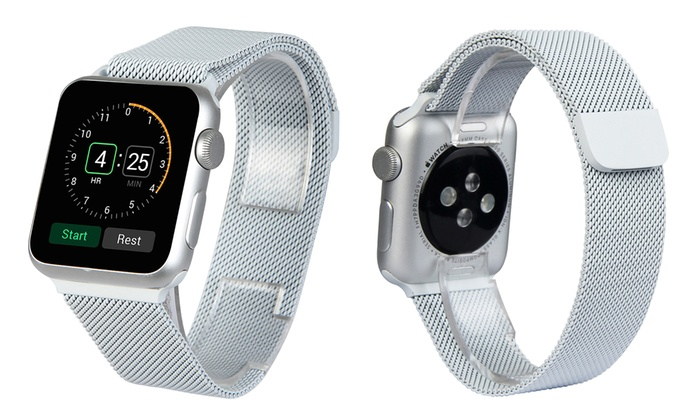 Milanese Loop Mesh Band For Apple Watch Series 1 2 3 4 5 Groupon