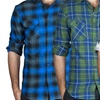 Clearance: Straightfaded Men's Plaid Flannel Shirts