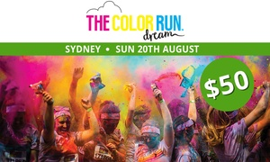 THE COLOR RUN: The Color Run™ Dream Tour - Entry for $50 (Plus Booking Fee), 20 August, Centennial Park (Up to $68 Value)