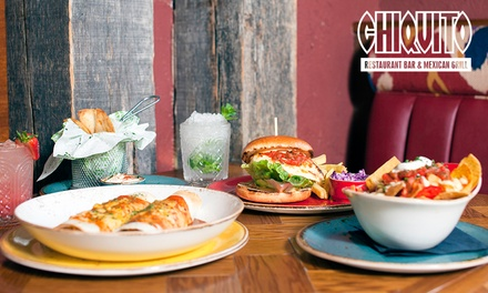 TwoCourse Meal with Two Drinks Each for Up to Four at Chiquito