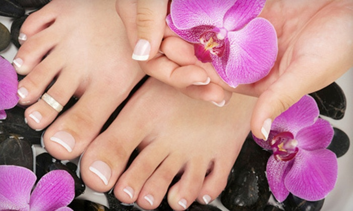 B' Polished Salon - Broken Arrow: One or Three Spa Mani-Pedis at B' Polished Salon in Broken Arrow (Up to 56% Off)