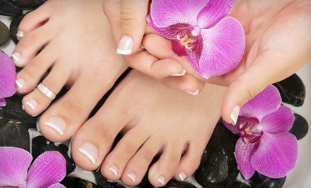 One Spa Manicure and Pedicure (a $60 value) - B' Polished Salon in Broken Arrow