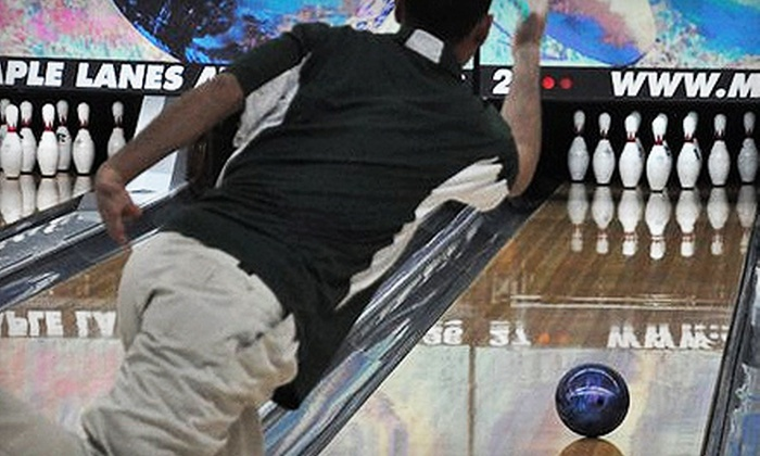 Maple Family Centers - Multiple Locations: $20 for Six Bowling Games, Shoe Rentals for Three, and a Pitcher of Soda at Maple Family Centers (Up to $50 Value)