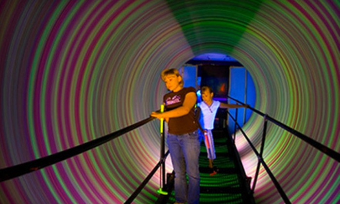 The Haunted Mill and Purple Planet 3-D Mini Golf - Belmont: One or Four Daily Passes, One Yearly Pass, or Party at The Haunted Mill and Purple Planet 3-D Mini Golf (Up to 75% Off)