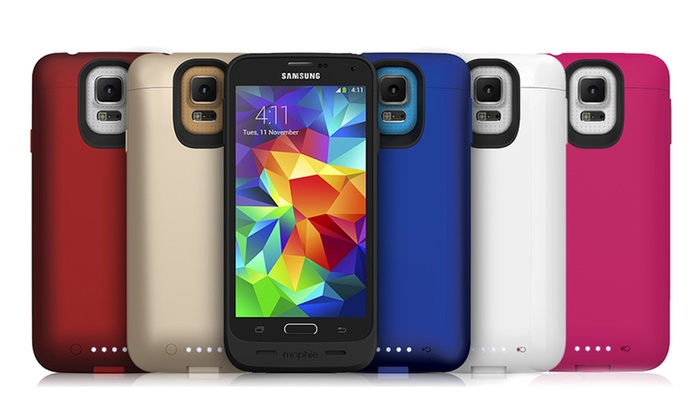 reputable site 0baed 77b5d Up To 83% Off on Mophie Galaxy S5 Battery Case | Groupon Goods