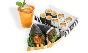 Noori Sushi: Menú sushi para 2 o 4 con sopa, 48 o 96 piezas de sushi y bebida en local o para llevar desde 19,95 € en Noori Sushi