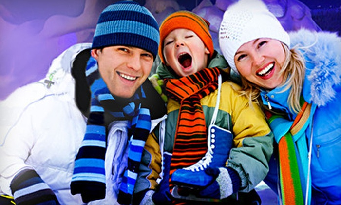 Snow Village - Sainte-Marie: One-Day Outing for Family of Five or Two Adults to Snow Village in Montreal (Up to 68% Off)