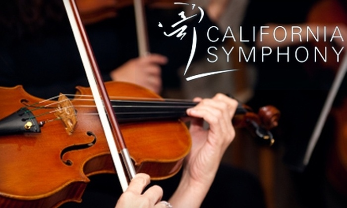 California Symphony - Downtown Walnut Creek: One Ticket to a California Symphony Performance in Walnut Creek. Four Options Available.