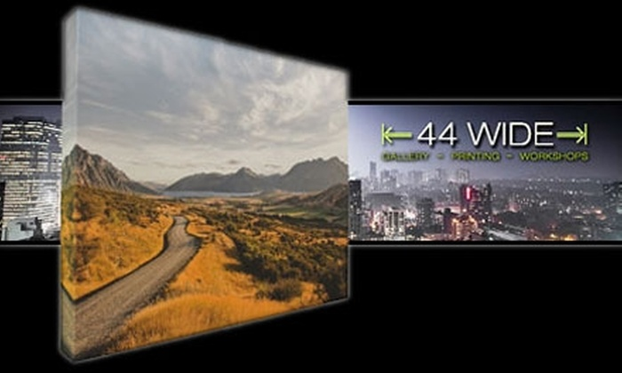 "44 Wide: $65 for a 16""x20"" Gallery-Wrapped Canvas Plus Shipping from 44 Wide ($215 Value)"