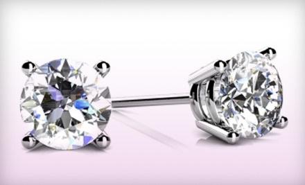 Nikash Diamonds: 1 Pair of 0.25-Carat White Diamond Stud Earrings - Nikash Diamonds in
