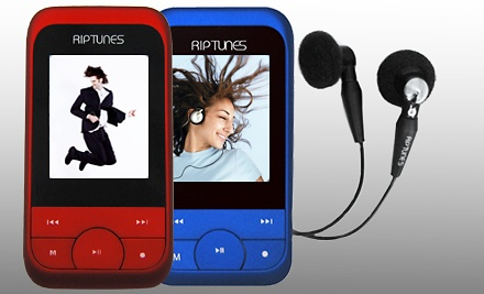 Riptunes 4GB MP3 Music and Video Player with FM Radio: Blue (a $50 value) - MP3 Music and Video Player with FM Radio in