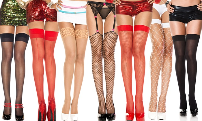 Thigh-High Stockings in Regular and Plus Sizes