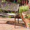 Eastwood Antique Copper-Cast Aluminum Outdoor Bench