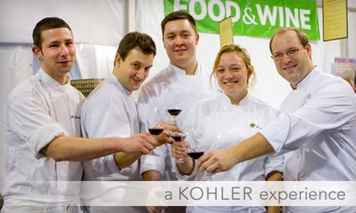 Kohler Food & Wine Experience - Kohler: Two Tickets to Kohler Food & Wine Experience Events, October 21–24. Choose from Five Options.