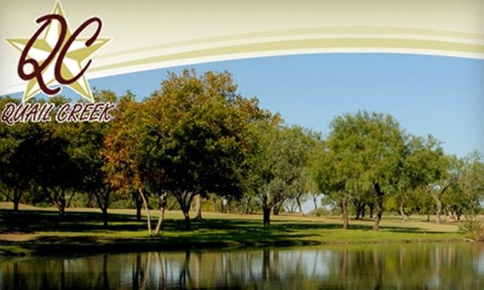 Quail Creek Golf Club - San Marcos: $35 for a Two-Person Round of Golf at Quail Creek Golf Club (Up to $79 Value)